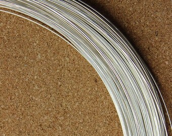 Round Sterling Wire 20ga (0.8mm) Dead Soft (I-SRW20) (Sold by 5ft)