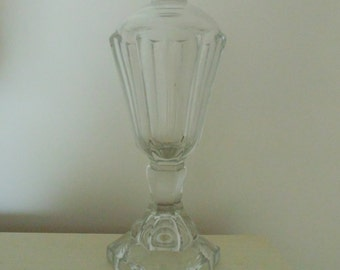 Antique Whale Oil Lamp Clear Glass