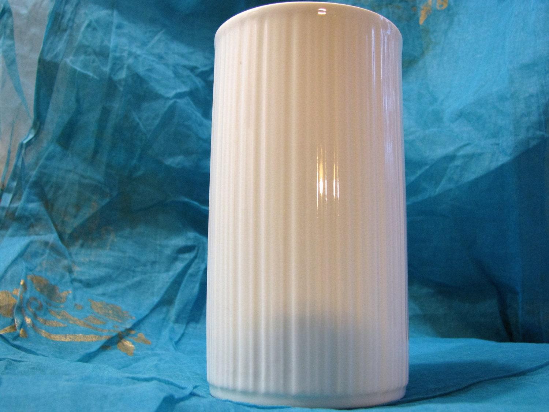 melitta op art vase vintage porzellan wei 60er jahre. Black Bedroom Furniture Sets. Home Design Ideas