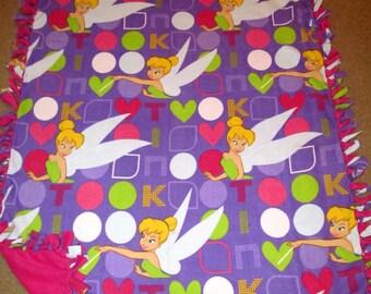Disney Tinkerbell Fairy Fleece Tie Blanket