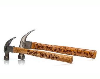 Paire de marteaux personnalisé, à la main, gravée outils, cadeaux pour les hommes, cadeaux pour papa, des cadeaux pour le mari, cadeaux d'anniversaire pour les hommes, griffe de marteaux