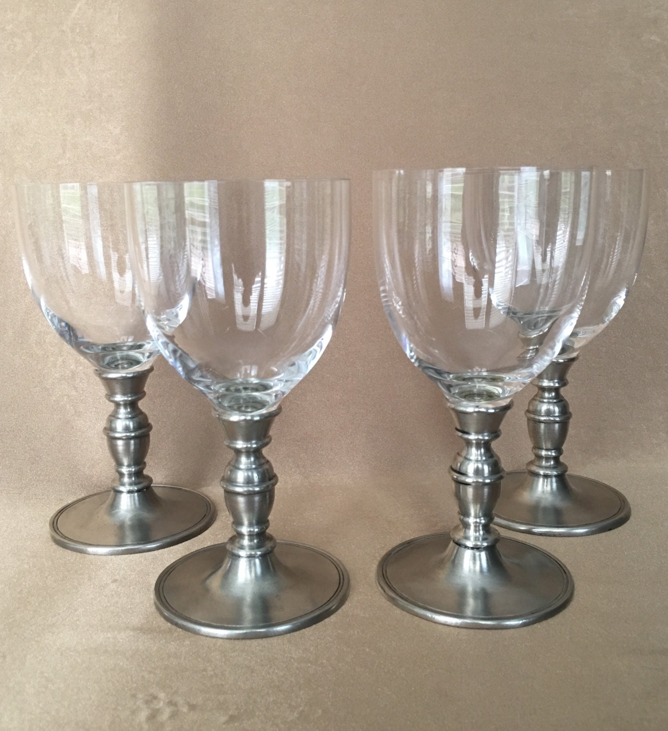 Pewter Wine Glasses Match Pewter Caterina Crystal Made In
