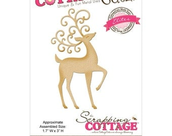 "CottageCutz Elites Die ~ Prancing Deer, CCE189 Assembled Size 1.7""X3"" ~"