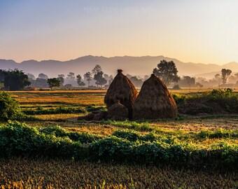 Bardia Village - Bardia National Park - Bardia, Nepal - Fine Art Photo Print - Home Decor