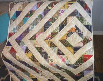 READY TO SHIP Quilt, hand made, twin size.Modern quilt, handmade quilt ,set ,blanket. 53 x 73 inch