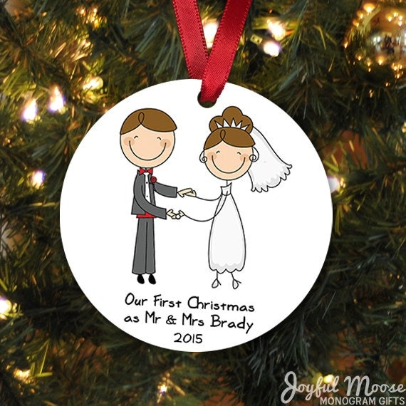 Wedding gift christmas ornament wedding christmas ornament