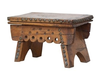 Charming 19th Century Welsh Fruitwood Stool