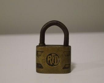 Vintage Padlock with Key