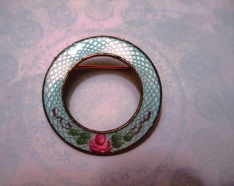 Enameled Circle pin
