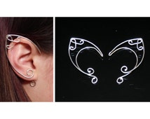 EAR CUFFS made in sterling silver. ELVEN earrings. Muse Suite