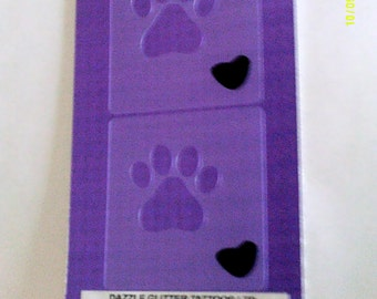 2 x Dog paw wall decor stencils for decoration craft hobby borders - gift present