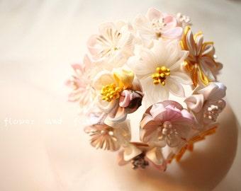 Wedding Hair Pins-Flower accessories- Floral hair pins--Pink Wedding-Bridal Gift-Z12