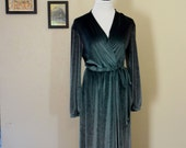 Vintage Velvet Robe // Dress