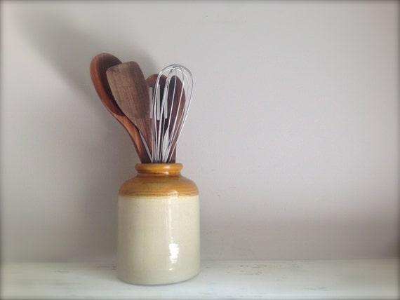Stoneware Crock // Salt Jar // Vintage Stone Crock // gift for cook // kitchen gifts // gifts for mom