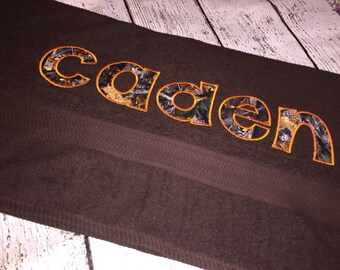 Personalized Appliqued Towel