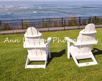 Two Chairs by the Ocean