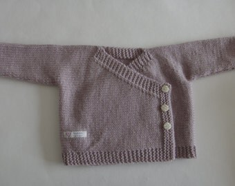 Hand knit Baby Boy Kimono, hand knitted baby cardigan, newborn baby cardigan, premie baby hand knitted cardigan, wool baby cardigan,clothing