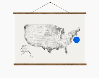 "United States Map  – Big Art Print – Multiple sizes available  8"" x 10"" / 12"" x 18"" / 24"" x 36"""