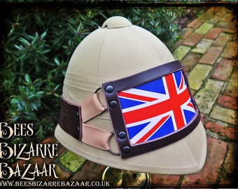 Steampunk Pith Helmet - Union Jack - Illuminated - Light up - Cosplay