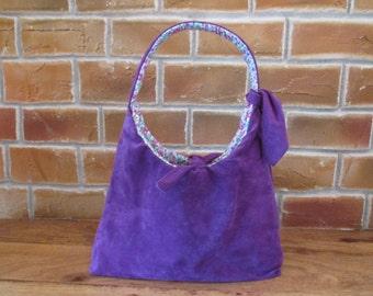 Lovely suede purple handbag