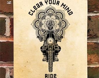 KillerBeeMoto: Buddha's Widsom On Motorcycling Motorcycle Print