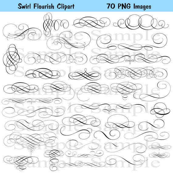 Images swirls wedding clipart instant download