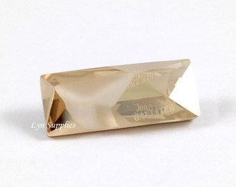 4924 GOLDEN SHADOW 23x9mm Swarovski Crystal Kaputt Baguette Jean Paul Gaultier Limited Edition JPG