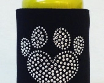 Heart Paw Print  Can Cooler