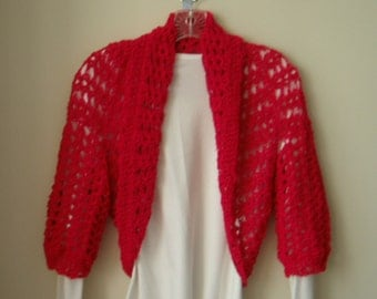 Bright Pink Sleeve Shrug