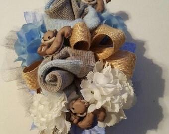 Baby Squirrel Sock Silk Corsage