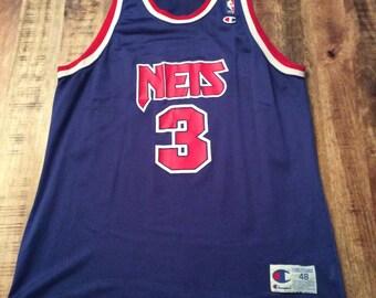 Vintage Drazen Petrovic New Jersey Nets Champion Jersey size 48