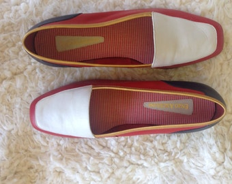 Vintage Nautical + Gold Enzo Angiolini Loafer / SZ 7.5M /
