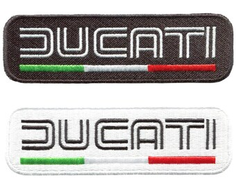 Vintage Style Ducati Motorcycle Patch Badge for Jacket Hat Cap 11cm