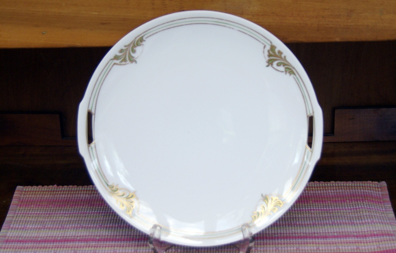 Vintage Art Deco Cake Plate 10 Diameter 1920s