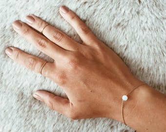 Moonstone Bracelet on a 14/20 Gold-fill, 14/20 Rose Gold-fill, or Sterling Silver Chain