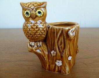 Ceramic Owl Toothpick Holder, Lego Japan