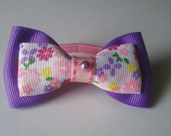 Purple and pink Floral Hairtie