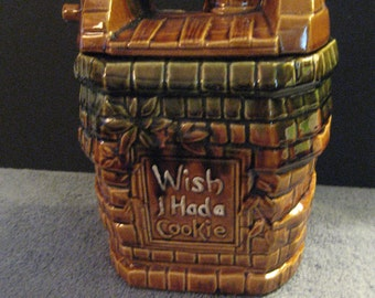 "McCoy Ceramic Cookie Jar ""Wish I had a Cookie"" Wishing Well Design"