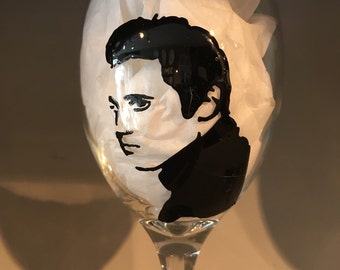 Elvis Presley Wine Glass