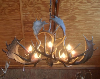 Antler Chandelier   Rustic Lighting   Country Home   Southwestern    Farmhouse