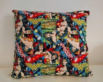 """Colourful Wonder Woman Cushion 16"""" x 16"""""""