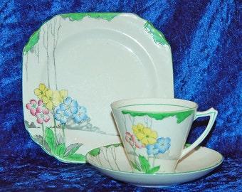 Heathcote The Lea Art Deco Trio Set Best Bone China Heathcote The Lea Tea Cup Saucer Tea Plate Art Deco