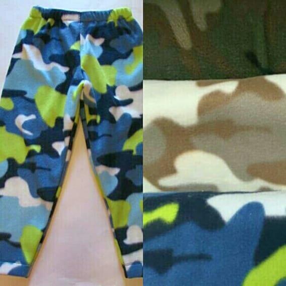 Camo fleece pants,  fleece pajama bottoms, fleece pants, warm pants, 3 camo colors, fleece pajamas, boys pajamas, men's pajamas