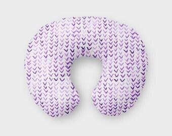 Nursing Pillow Cover Purple Triangle. Nursing Pillow Cover. Purple Boppy Cover. Boppy Pillow Case. Boppy Slip Cover.