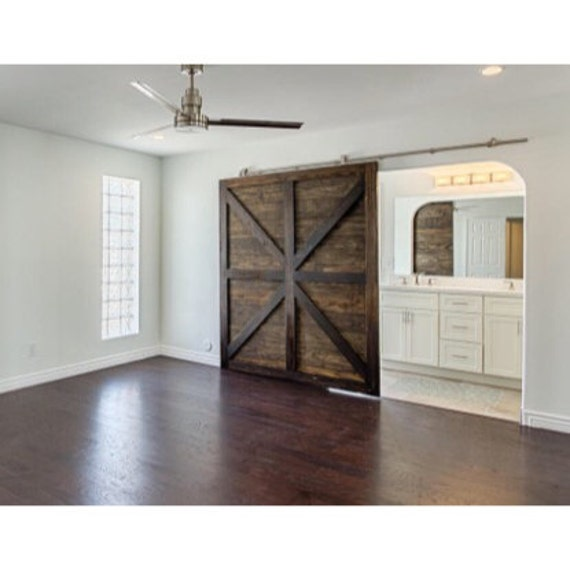 Oversized single british brace design sliding barn door for Single sliding barn door