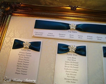 Damask Table Plan. Wedding Seating Plan.