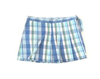 Vintage Plaid Wrap Mini Skirt