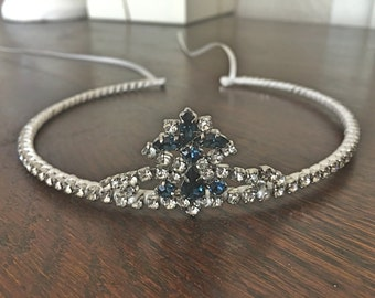 Bridal sapphire tiara - Handmade - A unique and delicate bridal tiara made just for your special day