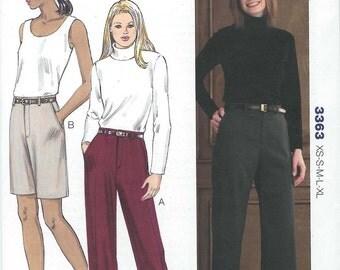 Sewing Pattern - Misses Pattern, Slacks and Shorts Pattern, Kwik Sew #K3363