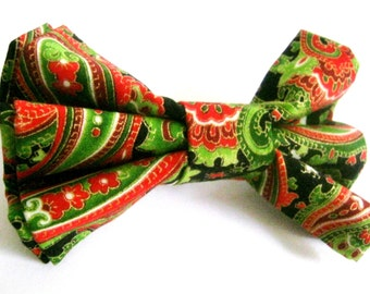 Christmas dog bow tie Dog collar bow tie Pet Christmas bow tie